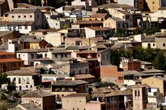 Medieval houses on a hillside, Toledo Stock Images