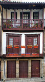 Medieval houses in the Historical Center of Guimaraes Stock Images