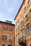 Medieval houses in Modena, Italy Stock Photography