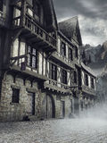 Medieval houses in the mountains Royalty Free Stock Image