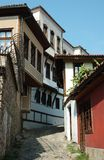 Medieval houses of old center in Plovdiv,Bulgaria Stock Photo