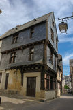 Medieval houses in the old town. Chinon. France Royalty Free Stock Photo