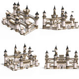 Medieval Houses - Palace royalty free illustration