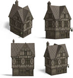 Medieval Houses - Pub Stock Photos