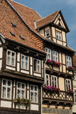 Medieval Houses Quedlinburg Germany Stock Image