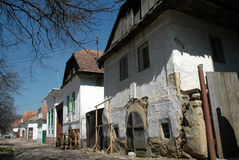 Medieval houses in Rametea, Torocko, Transylvania Royalty Free Stock Photos