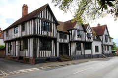 Medieval houses. At a road in Sudbury Royalty Free Stock Photos