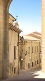Medieval houses, San Marino Royalty Free Stock Photos