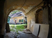 Medieval houses in Sibiu Stock Photos