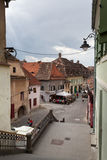 Medieval houses in Sibiu Stock Images