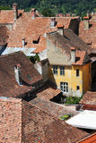 Medieval houses in Sighisoara, Romania Royalty Free Stock Images
