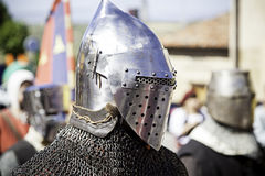 Medieval hull of a Knight Templar Stock Photos