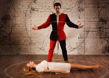 Medieval illusionist Royalty Free Stock Photography