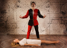 Medieval illusionist Stock Images