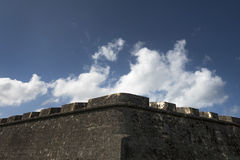 Medieval impenetrable Castle wall Royalty Free Stock Photo