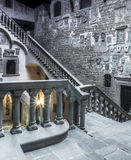 Medieval indoor. The interior of a medieval castle in Italy Stock Photography
