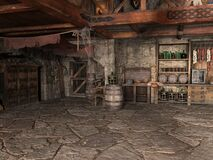 Free Medieval Inn, Tavern, Bar, Background Royalty Free Stock Images - 181766999