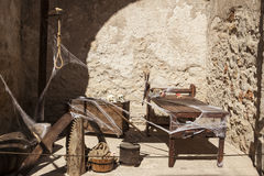 Medieval instruments of torture of the Inquisition in Spain Royalty Free Stock Photo