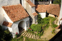 Medieval interior court in Transylvania Royalty Free Stock Image