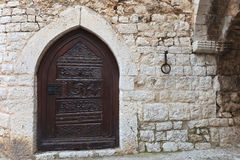 Medieval iron door Stock Photos