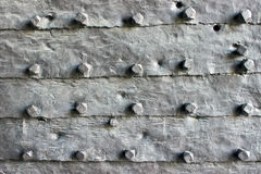 Medieval iron door  as background Royalty Free Stock Photos