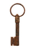 Medieval iron key Royalty Free Stock Photography
