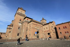 Medieval Italian fortress at Ferrara Royalty Free Stock Photos