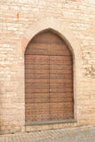 Medieval Italian front door Royalty Free Stock Photography