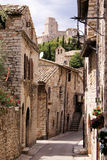 Medieval Italian street Stock Photos