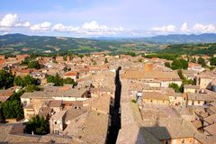 Medieval Italian town Stock Photography