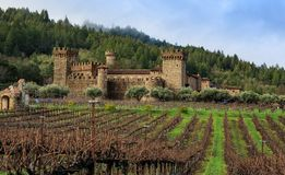 Medieval Italian Tuscan castle in America. royalty free stock photos