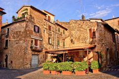 Medieval Italian village Royalty Free Stock Image