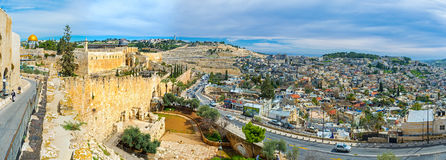 The medieval Jerusalem Royalty Free Stock Photos