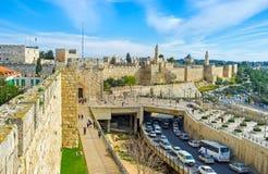 The medieval Jerusalem Stock Images