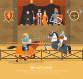 Medieval Joust Illustration Royalty Free Stock Image