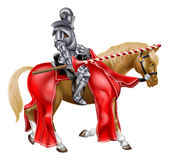 Medieval Joust Knight on Horse Royalty Free Stock Images