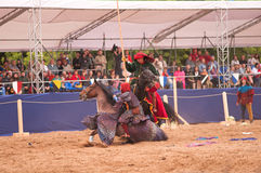 Medieval joust Royalty Free Stock Photography
