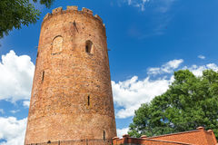 Medieval Kamyenyets Tower or White Tower in Belarus Royalty Free Stock Photos