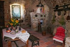 Medieval kitchen Royalty Free Stock Image
