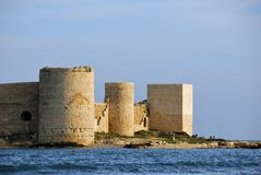 Kizkalesi castle, Mersin, Turkey Stock Image