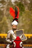 Medieval knight. In full armour on horseback Royalty Free Stock Images