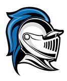 Medieval knight. Head in helmet. Vector illustration Royalty Free Stock Photography