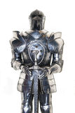 Medieval knight. The Medieval knight armor isolated on white Stock Photo