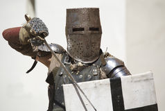 Medieval knight with armor Stock Image