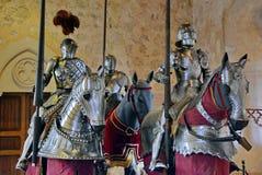 Medieval knight armor. Shiny model royalty free stock photography