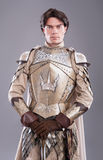 Medieval Knight. In armor with a sword Stock Photography