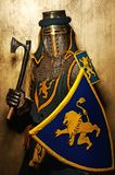 Medieval knight with an axe Royalty Free Stock Photography