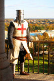 Medieval Knight on Balcony Royalty Free Stock Photography