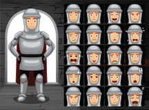 Medieval Knight Cartoon Emotion Faces Vector Illustration Stock Image