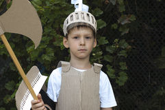 Medieval knight child Stock Image